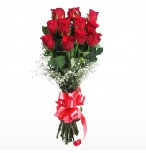 Hand Tied Bunch of 12 Red Roses