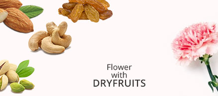 Send Flowers with Dryfruits to India