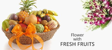 Send Flowers with Fresh Fruits to India