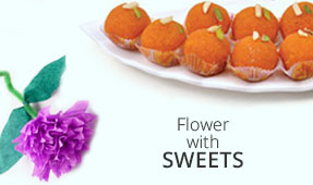 Send Flowers with Sweets to India