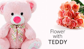 Send Flowers with Teddies to India